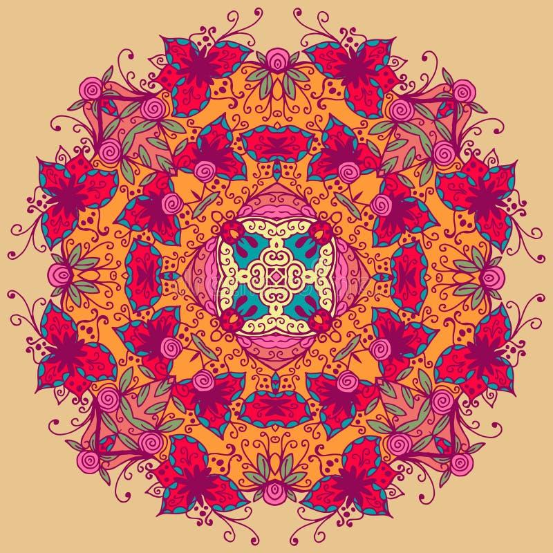 Sier rond kantpatroon Vector illustratie vector illustratie