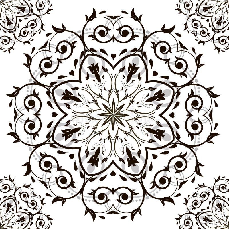 Sier rond organisch patroon royalty-vrije stock afbeelding