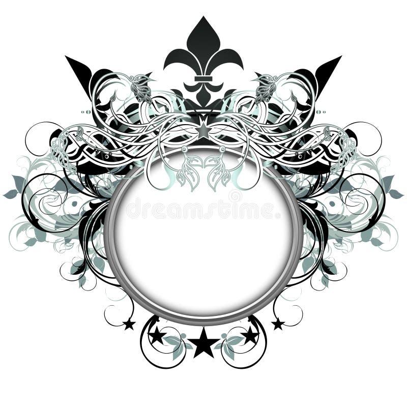 Sier schild royalty-vrije illustratie
