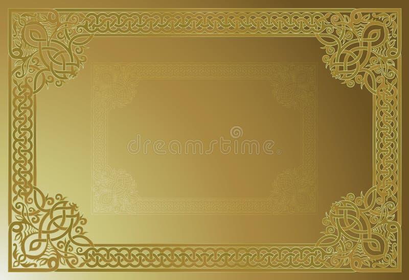 Sier VectorFrame royalty-vrije illustratie