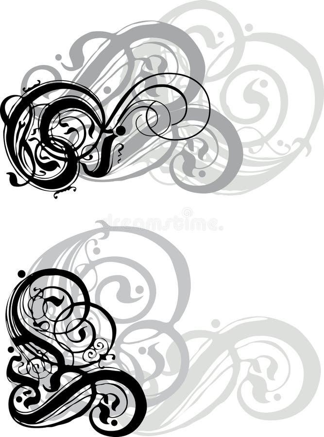 Sier wervelingen vector illustratie