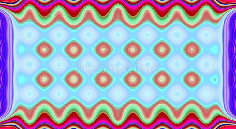 Sieren het psychedelische symmetrie abstracte patroon en hypnotic achtergrond, geometrisch vector illustratie