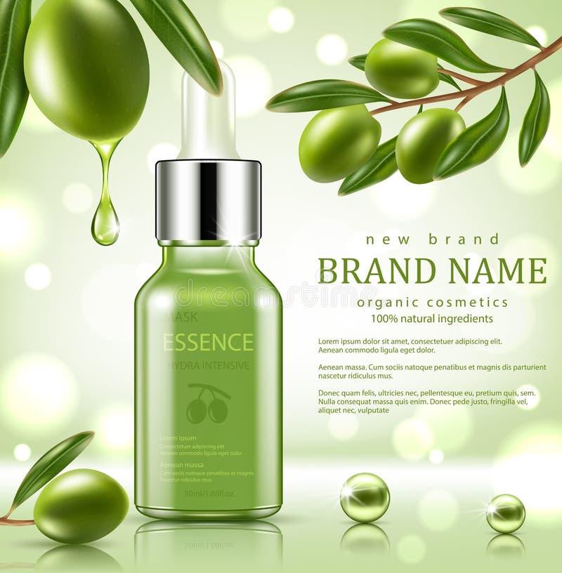 Siero verde di riparazione con essenza verde oliva verde royalty illustrazione gratis
