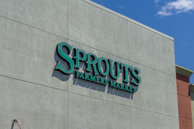 Sierpień 5, 2017 Sunnyvale/CA/USA - wejście jeden flanca supermarkety lokalizować w Krzemowa Dolina fotografia royalty free