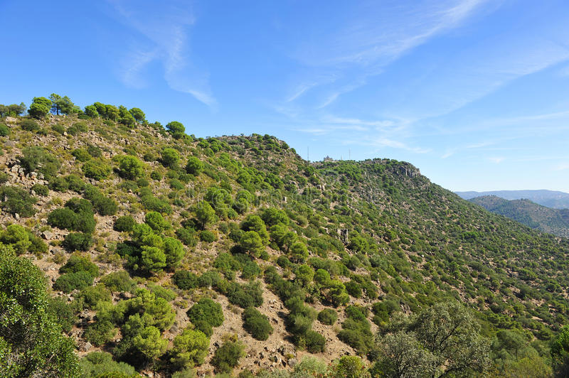 Sierra de Andujar Natural Park, Jaen province, Spain. The Natural Park of Sierra de Andujar is a protected natural area of mediterranean mount located in the royalty free stock photos