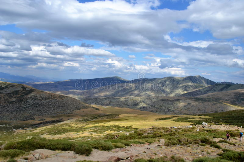 Sierra de Gredos. In avila spain The extreme harshness of the  is known among lovers of mountain and trekking, also among those travelers who travel the roads royalty free stock photo