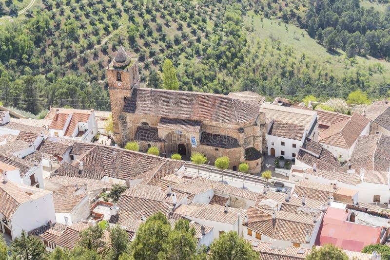 Sierra di Segura de la Sierra villaggio, di Cazorla e di Segura, Jaen, PS fotografia stock