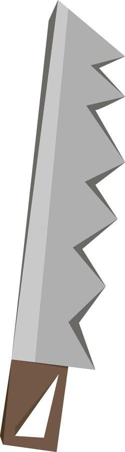 Sierra en herramienta del metal del vector fotos de archivo