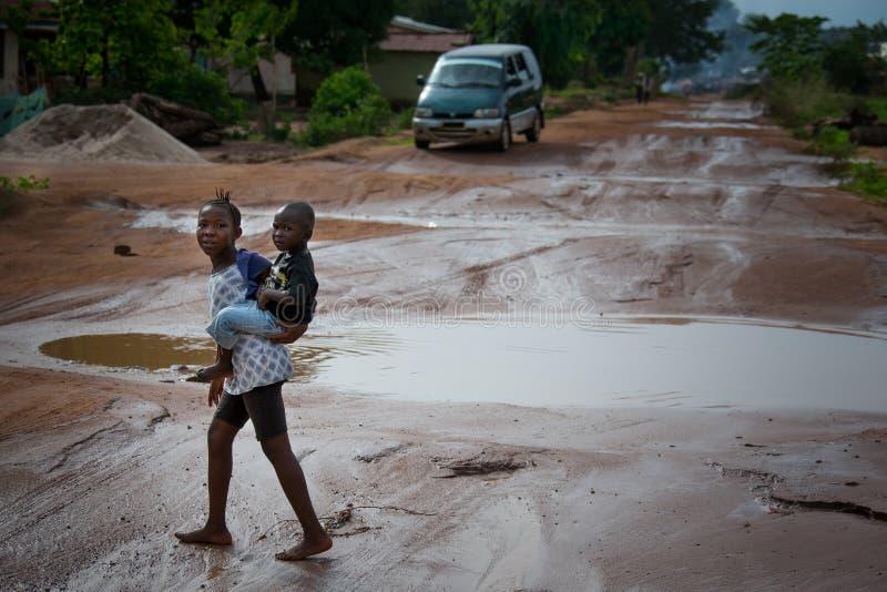Sierra Leone, Africa occidentale, le spiagge di Yongoro immagini stock