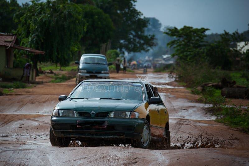 Sierra Leone, Africa occidentale, le spiagge di Yongoro immagini stock libere da diritti