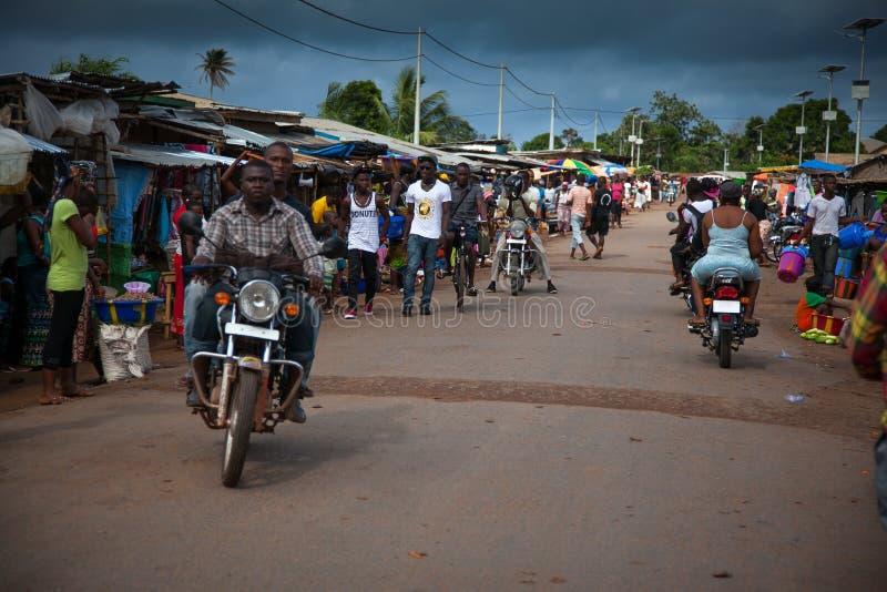 Sierra Leone, Africa occidentale, le spiagge di Yongoro fotografie stock
