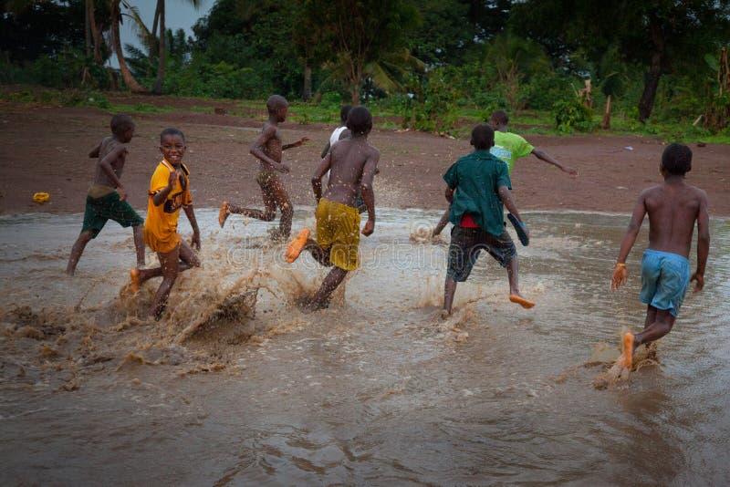 Sierra Leone, Africa occidentale, le spiagge di Yongoro fotografia stock