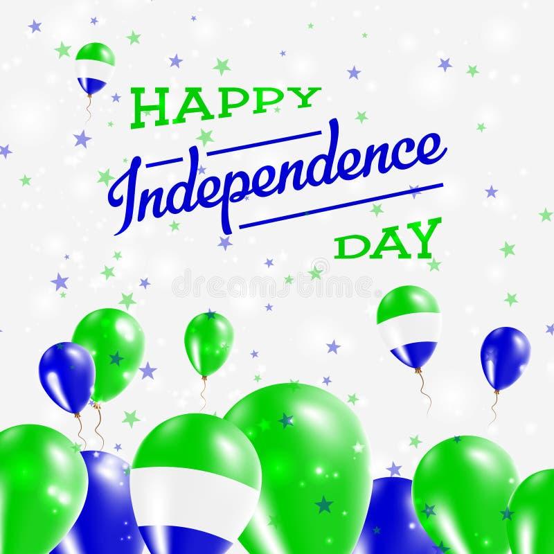 Sierra Leone dnia niepodległości Patriotyczny projekt ilustracji