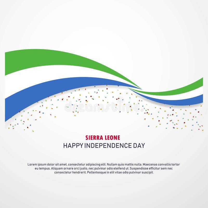 Sierra Leone dnia niepodległości Szczęśliwy tło ilustracji