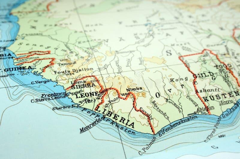 Sierra Leone en Liberia royalty-vrije stock fotografie
