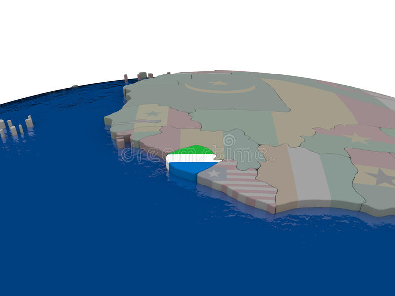 Download Sierra Leone With Flag Stock Illustration - Image: 83716723