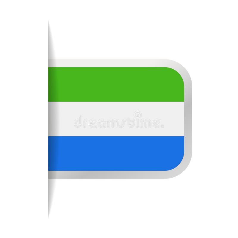 Sierra Leone Flag Vector Bookmark Icon ilustración del vector