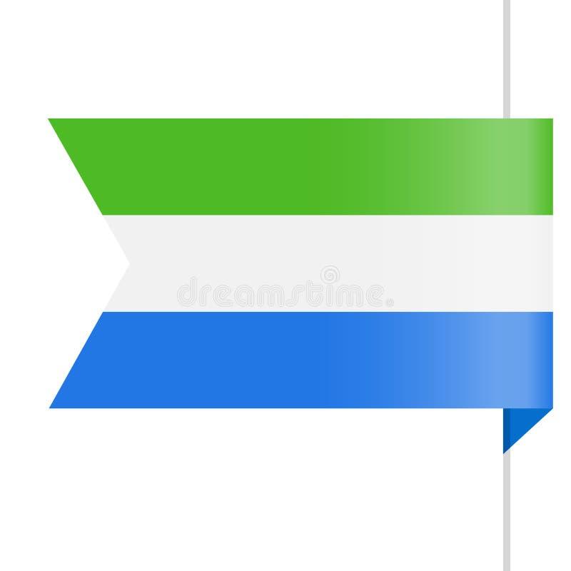 Sierra Leone Flag Vector Bookmark Icon libre illustration