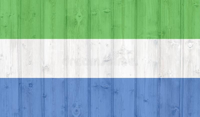 Sierra Leone flaga ilustracji