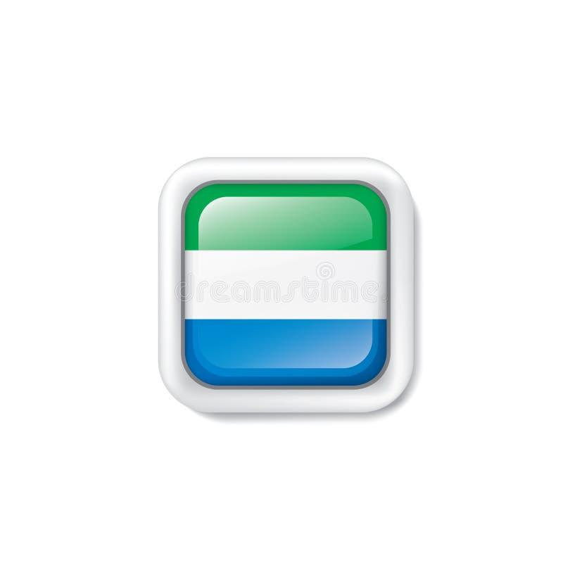 Sierra Leone flagga, vektorillustration p? en vit bakgrund vektor illustrationer