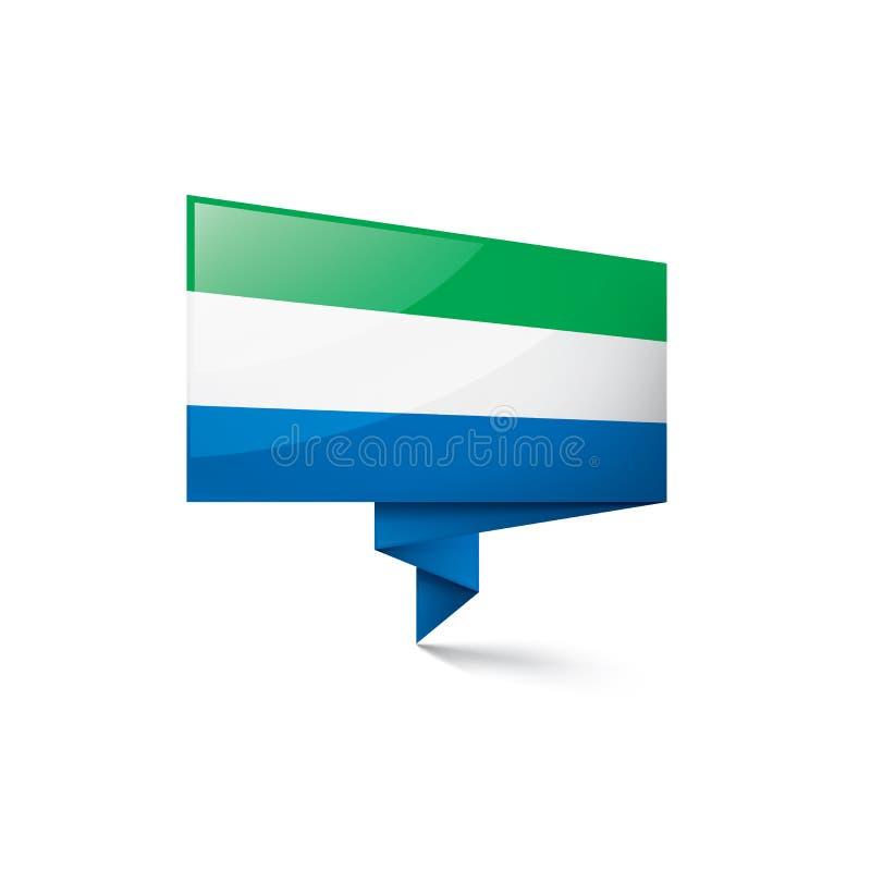 Sierra Leone flagga, vektorillustration p? en vit bakgrund royaltyfri illustrationer