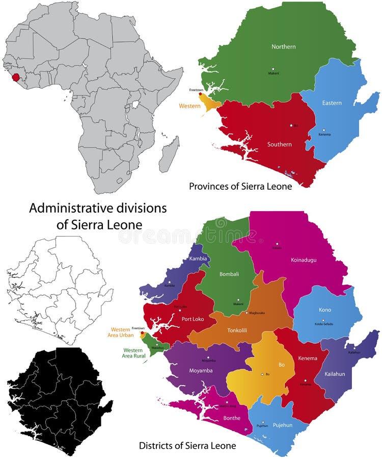 Sierra Leone mapa ilustracji