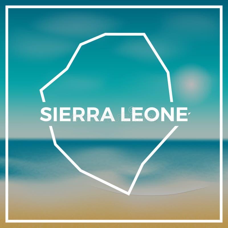 Sierra Leone mapy szorstki kontur przeciw royalty ilustracja