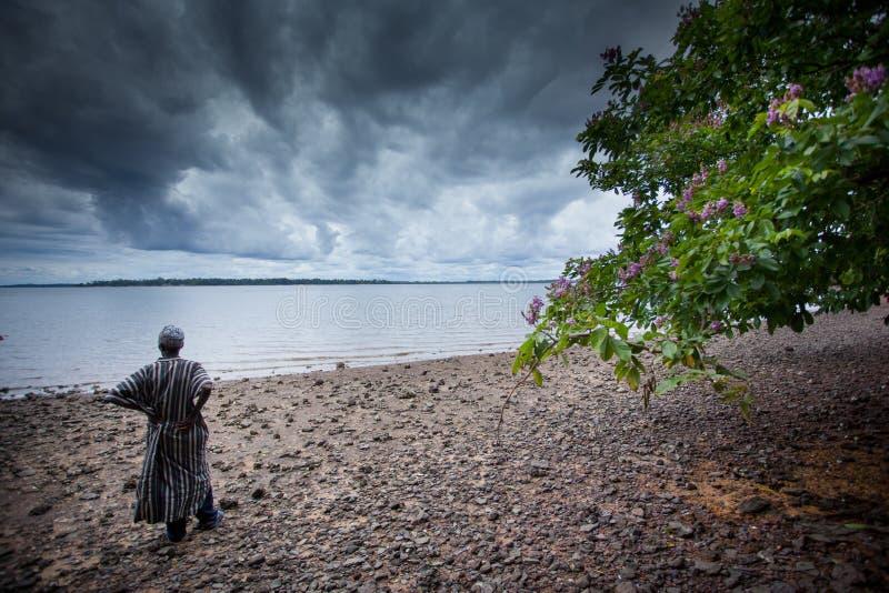 Sierra Leone, porto Loko, Africa occidentale, le spiagge del Bunce I immagine stock libera da diritti