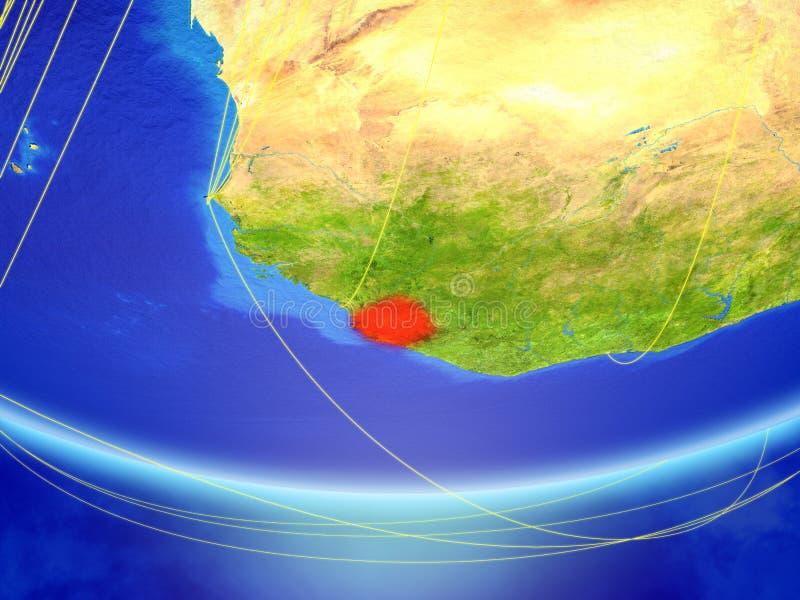 Sierra Leone ter wereld met netwerk stock afbeeldingen
