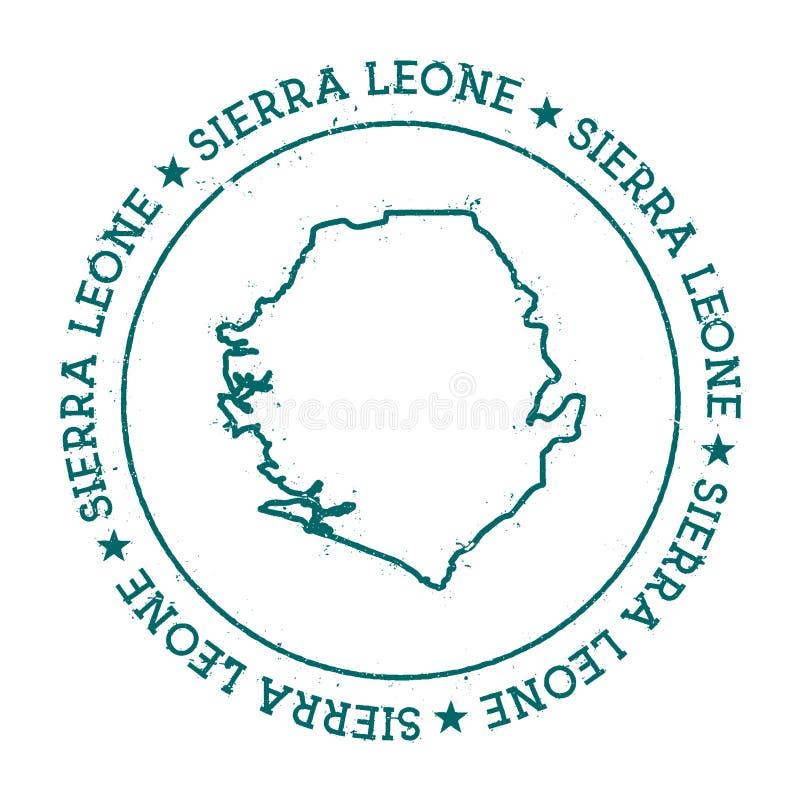 Sierra Leone wektorowa mapa royalty ilustracja
