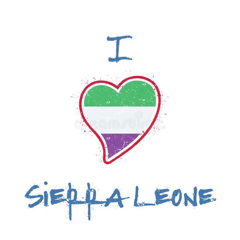 Sierra Leonean koszulki chorągwiany patriotyczny projekt ilustracja wektor