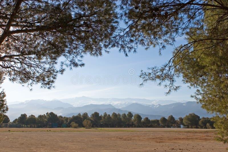 Sierra montañas de Nevada en España cerca de Granada fotografía de archivo libre de regalías