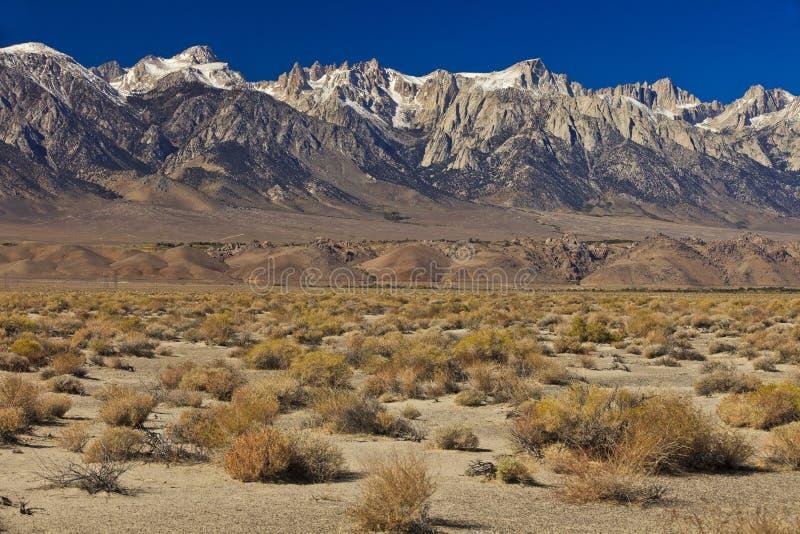 Sierra Mountains. Sierra Nevada Mountains, California, USA royalty free stock photos