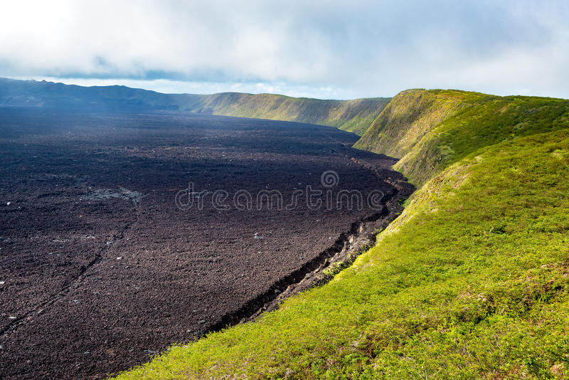 Sierra Negra Volcano. Crater of Sierra Negra Volcano on Isabela Island in the Galapagos Islands royalty free stock photography
