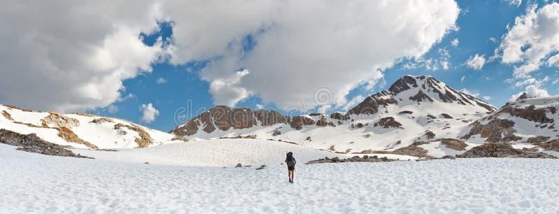 Sierra Nevada Adventure Panorama. California, USA stock image