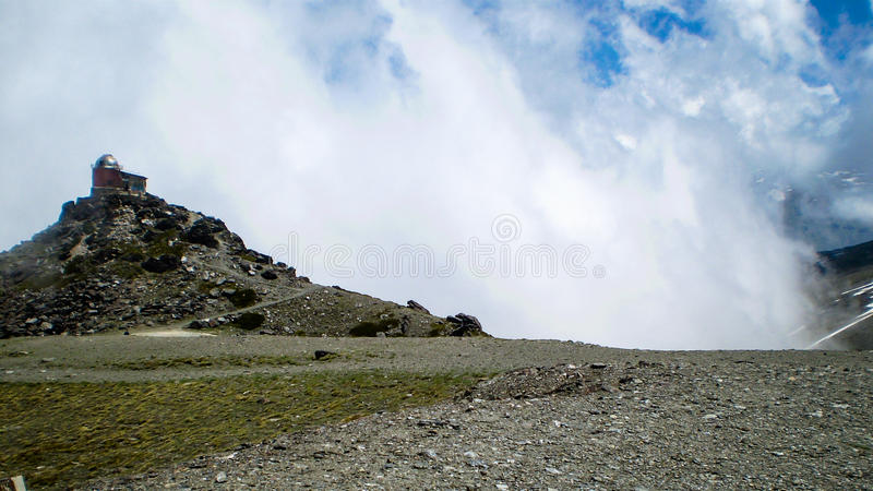 Sierra Nevada. Clouds in the Sierra Nevada in the South of Spain royalty free stock images