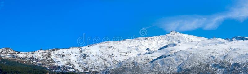 Sierra Nevada halny ośrodek narciarski Granada obrazy royalty free