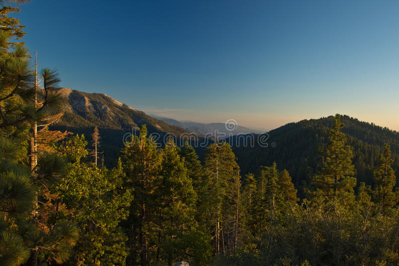 Sierra Nevada Mountain Range landscape at sunset. stock images