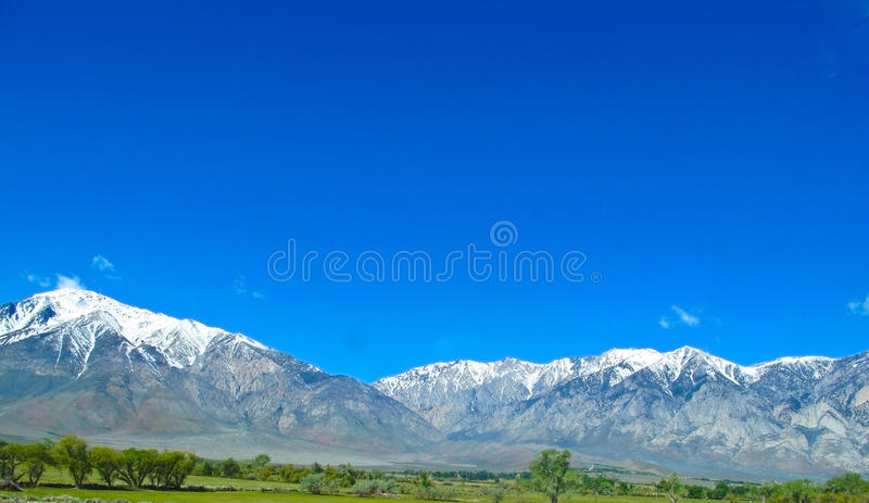 Sierra Nevada Mountains In California Stock Image