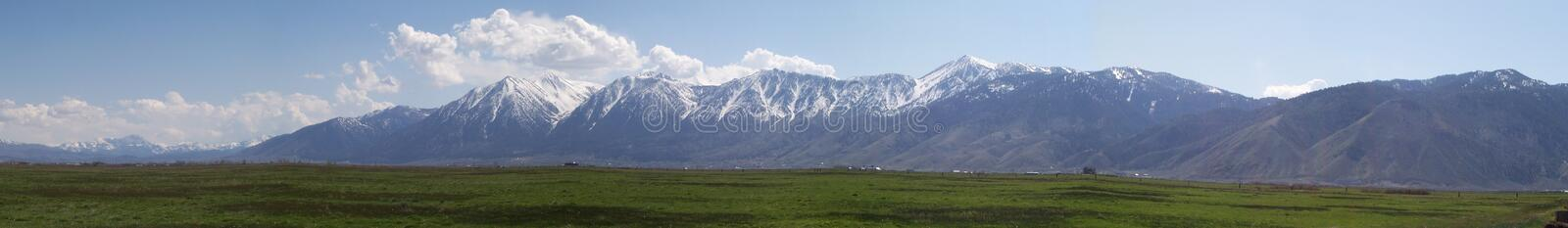 Sierra Nevada Mountains in Carson Valley stock photo