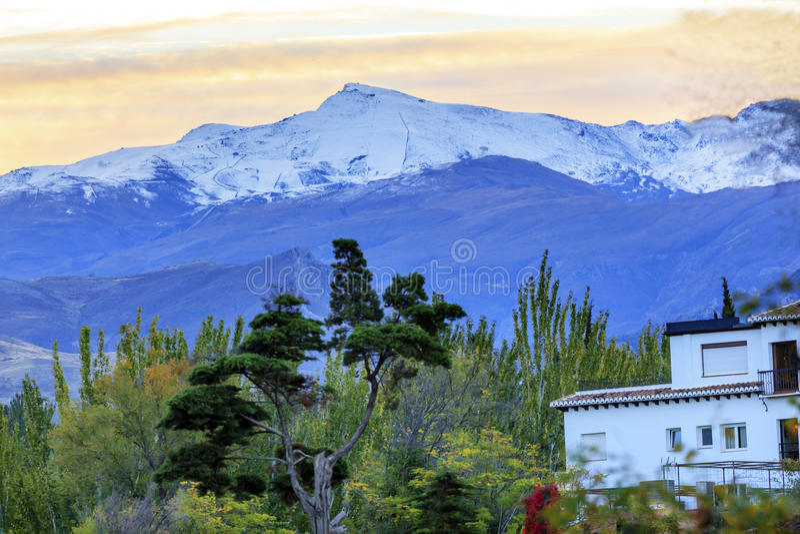 Sierra Nevada Mountains Snow Ski Area Granada Andalucía España imagen de archivo libre de regalías
