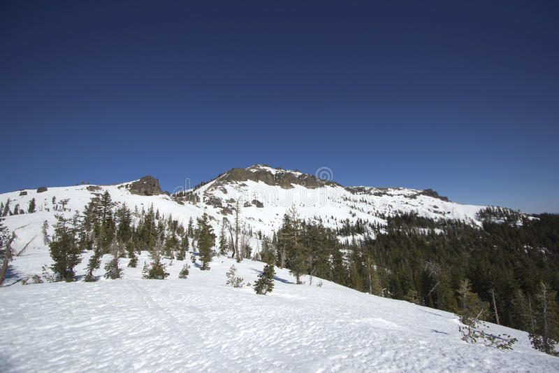 Sierra Nevada snow ranges stock photos
