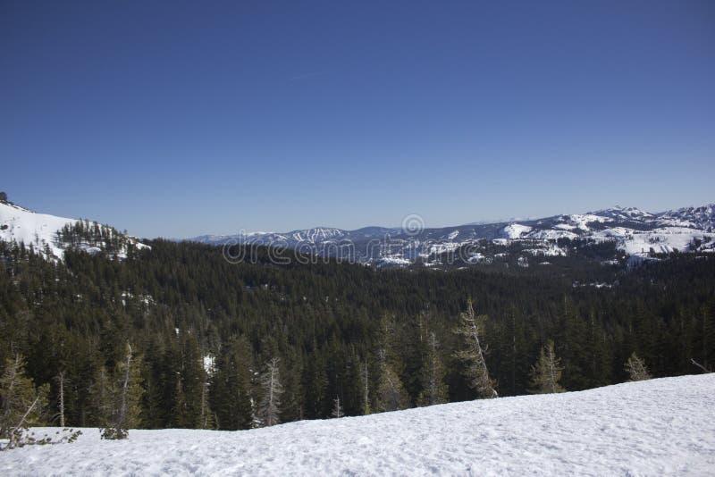 Sierra Nevada snow ranges royalty free stock photography
