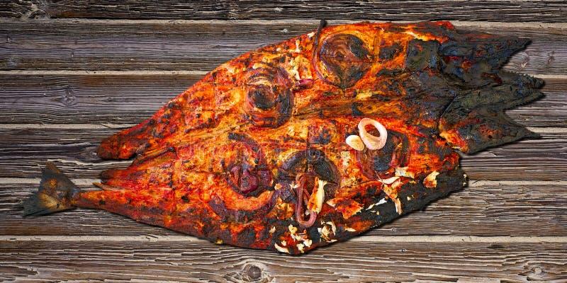 Sierra ricetta maya del tikinchik messicano del pesce dello sgombro immagine stock