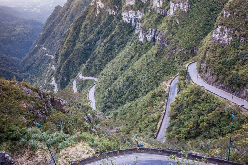 Sierra of the Rio do Rastro. Route SC-390 - Santa Catarina - Brazil stock image