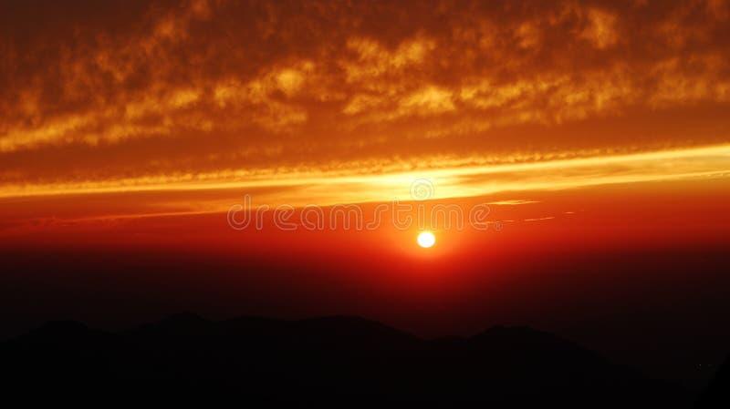 Sierra tramonto di Neveda al suo meglio immagine stock