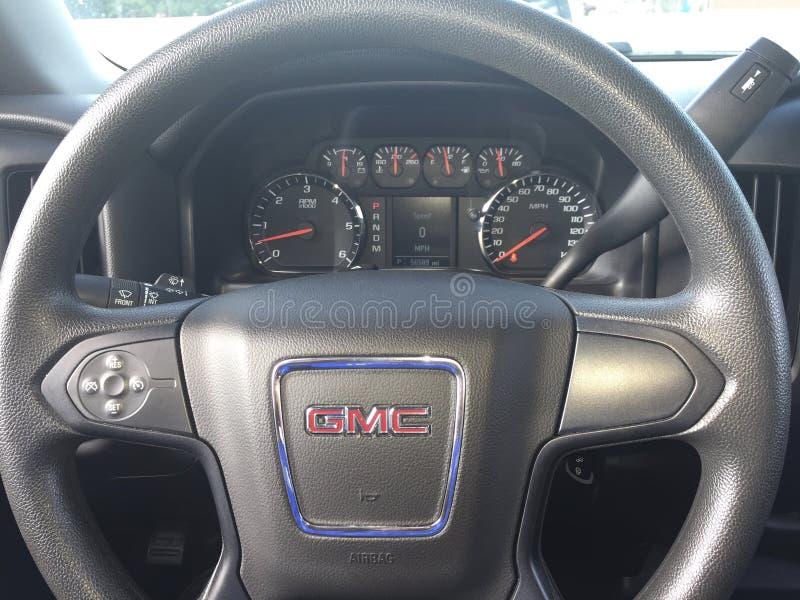 Sierra volant de GMC de camion photo stock