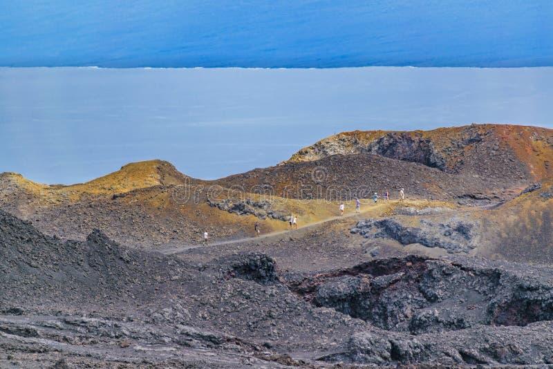 Sierra volcan de Negra, Galapagos, Equateur images stock