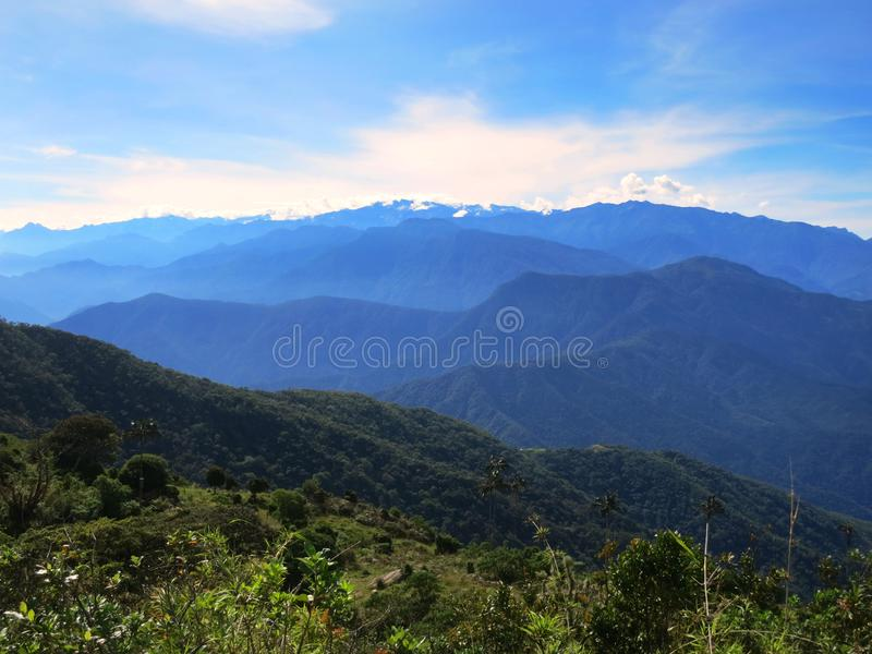 Sierre Nevada, Santa Marta Mountains; Colombia. Uitzicht op Sierre Nevada, Santa Marta Mountains, Colombia; View on the Sierre Nevada, Santa Marta Mountains stock images