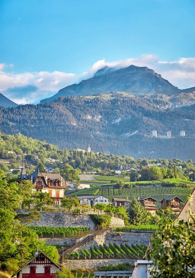 Sierre, Zwitserland stock afbeelding